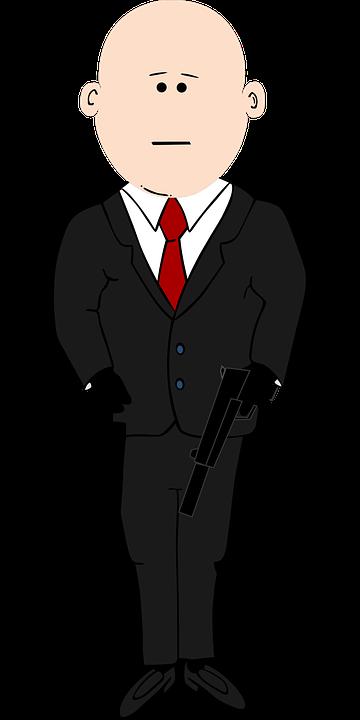 Assassino calvo cartone animato grafica vettoriale gratuita su
