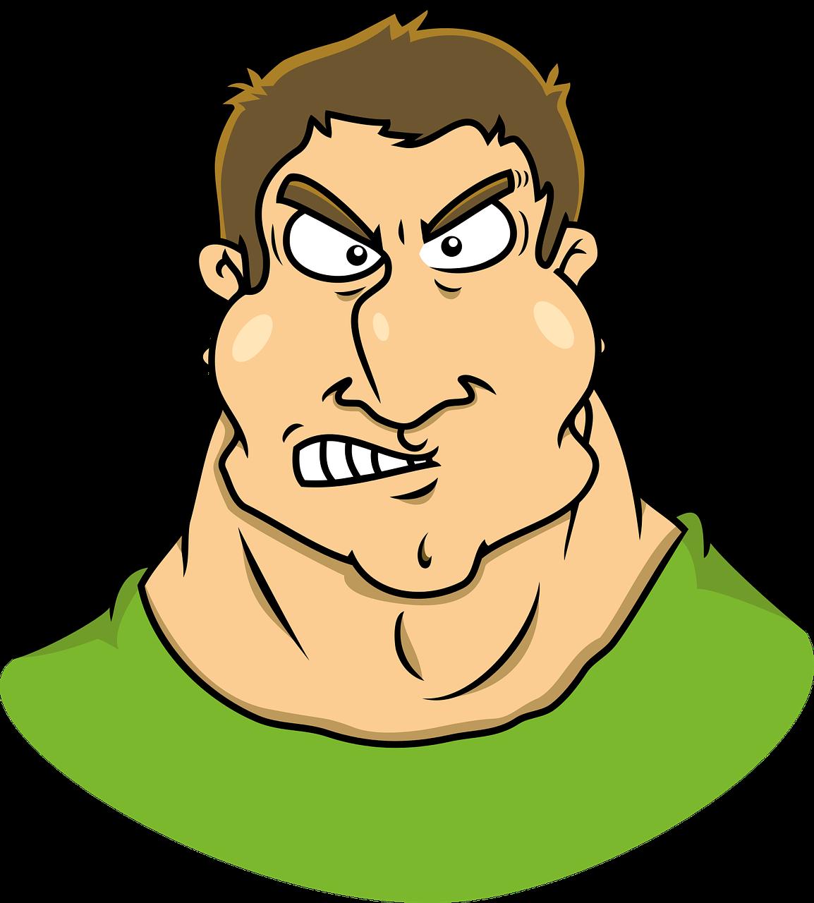 Mengganggu Berotot Karikatur Gambar Vektor Gratis Di Pixabay