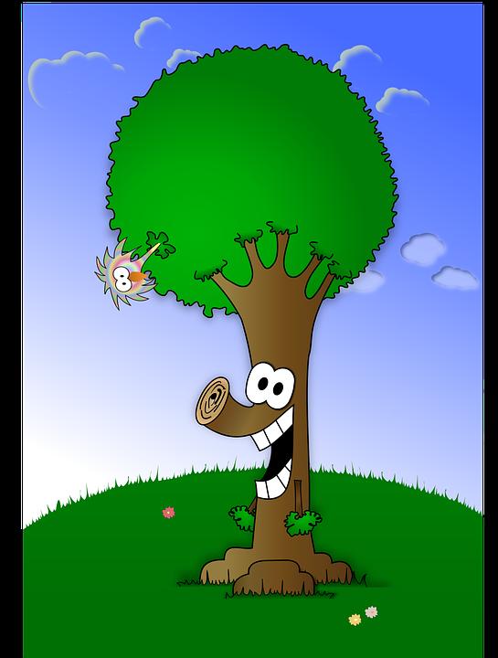 Dibujos Animados Cara Naturaleza Gráficos Vectoriales Gratis En