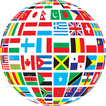 Countries, Flags, Globe, Political