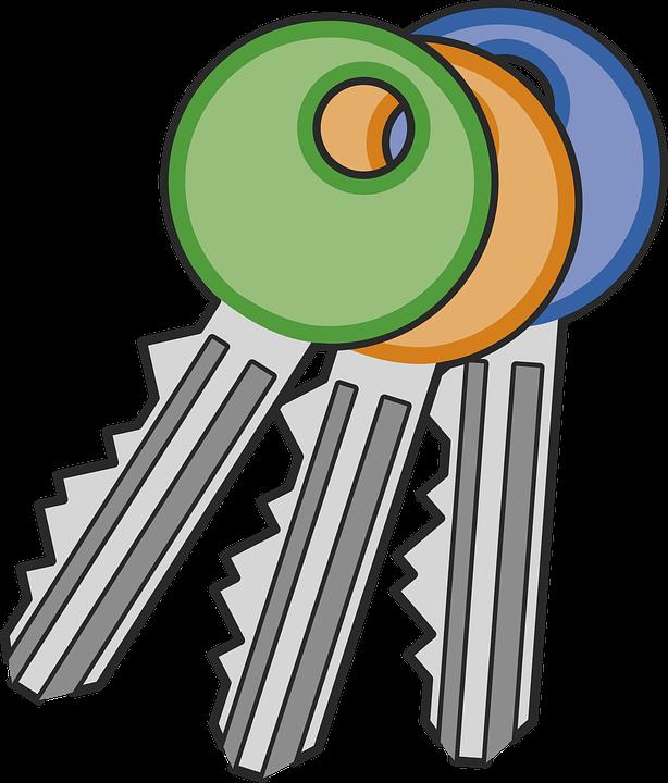 blue door green jims free vector graphic on pixabay rh pixabay com clipart of lost keys clipart of keyboard keys