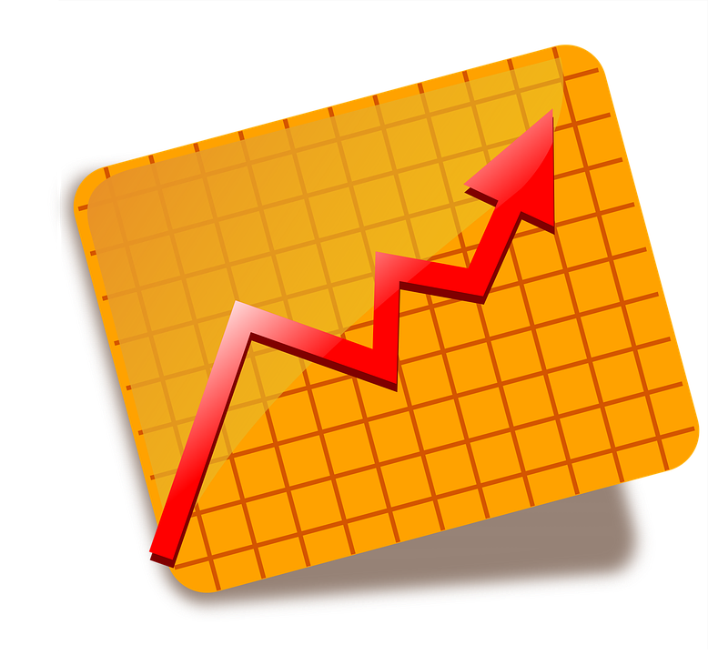 Chart, Graph, Icon, Red, Stocks, Up