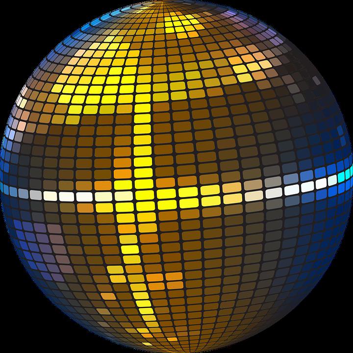 Bola colorido discoteca gr ficos vectoriales gratis en - Bola de discoteca de colores ...