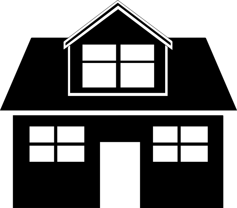 Free vector graphic black home house icon white for Png home designs