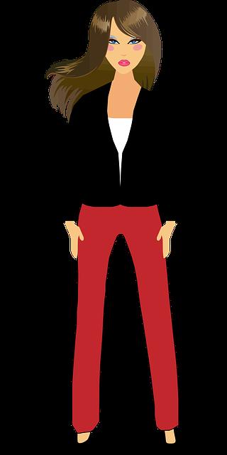 Comicfigur Frau