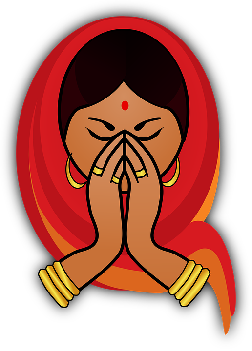 Girl greeting hindu free vector graphic on pixabay girl greeting hindu india indian martin collection m4hsunfo