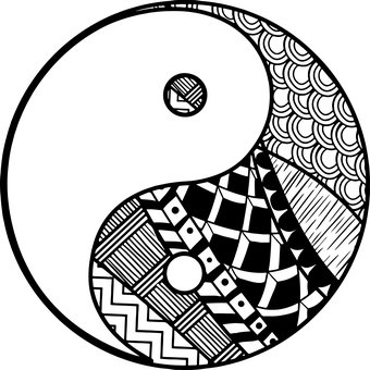 Decorative Symbol Yang Yin