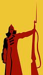 army, bayonet, red