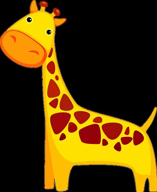 Pixabay - Dessin de girafe en couleur ...