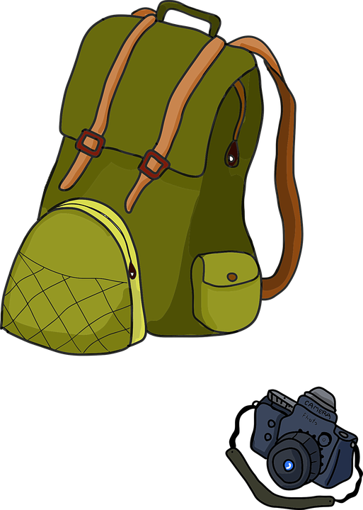 Free Vector Graphic Backpack Camera Cartoon Picture