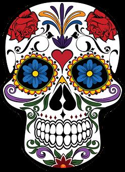 Skull Death Halloween Cranium Decoration Decorative Design