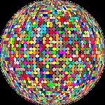 circles, colorful, confetti