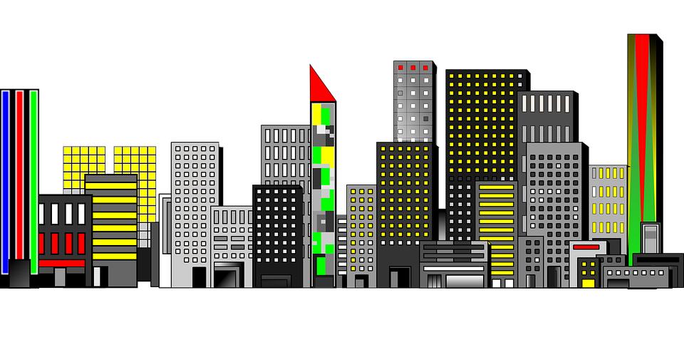City Night Scenery · Free vector graphic on Pixabay