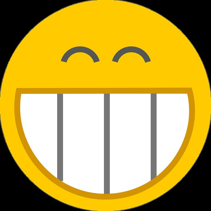Gesicht, Grinsen, Icon, Lächeln, Smiley, Lächelnd, Gelb