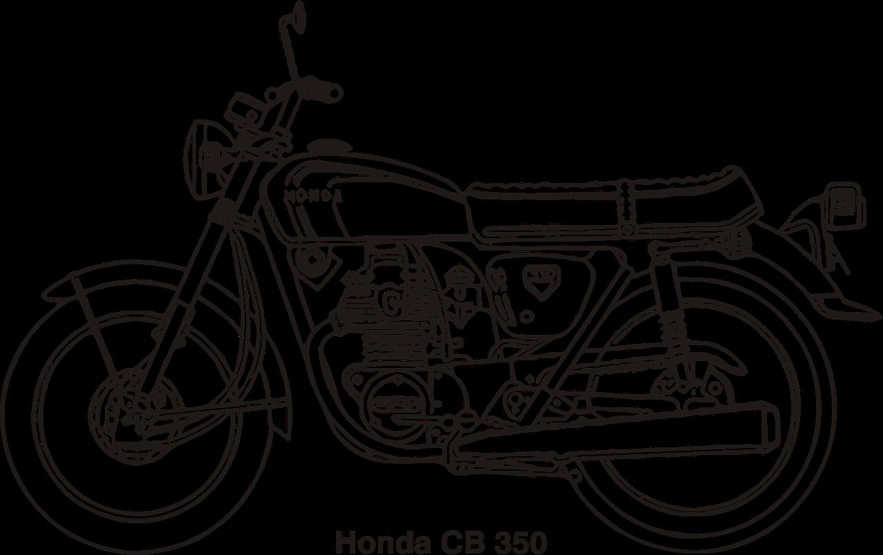 Cb Honda Sepeda Gambar Vektor Gratis Di Pixabay