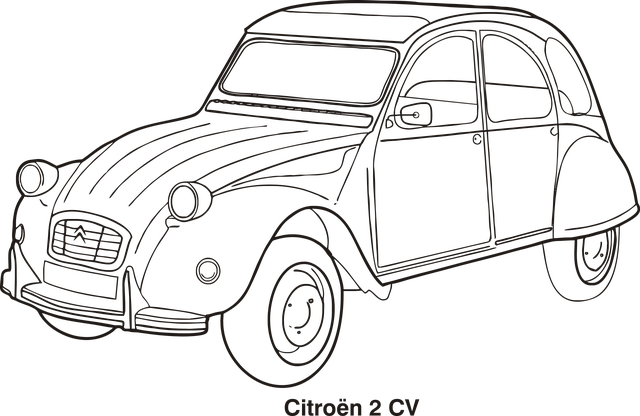 Car outline cars free vector graphic on pixabay - Dessin de voiture simple ...