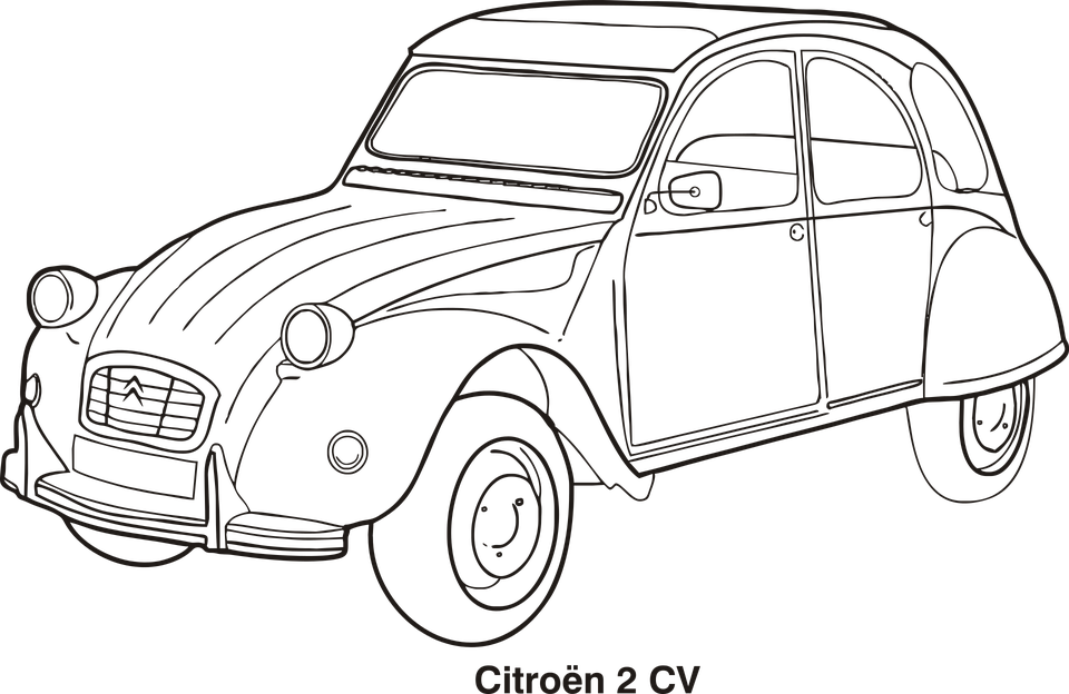Vintage car outline vector 8