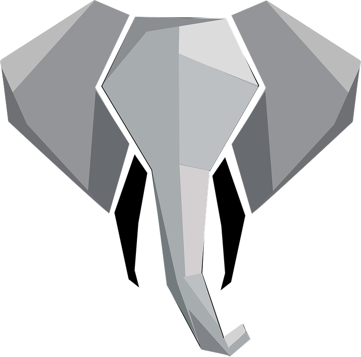 Abstract Animal Elephant Free Vector Graphic On Pixabay Super tattoo elephant head animals ideas. abstract animal elephant free vector