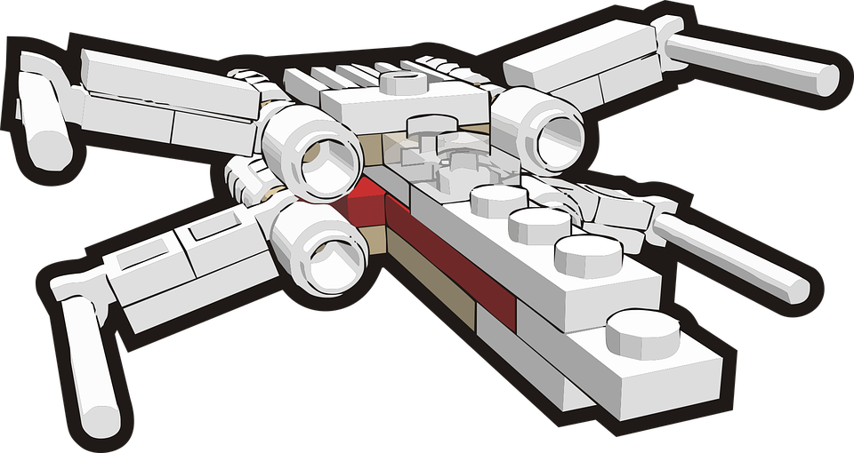 x wing star wars building block free vector graphic on pixabay rh pixabay com  lego star wars logo clipart