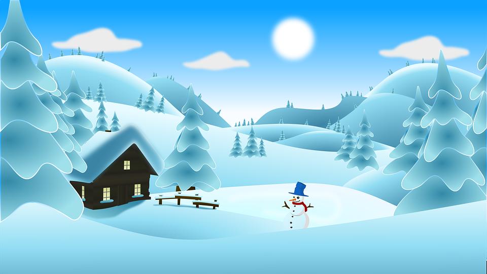 Peyzaj Manzara Kar Kardan Pixabayda ücretsiz Vektör Grafik