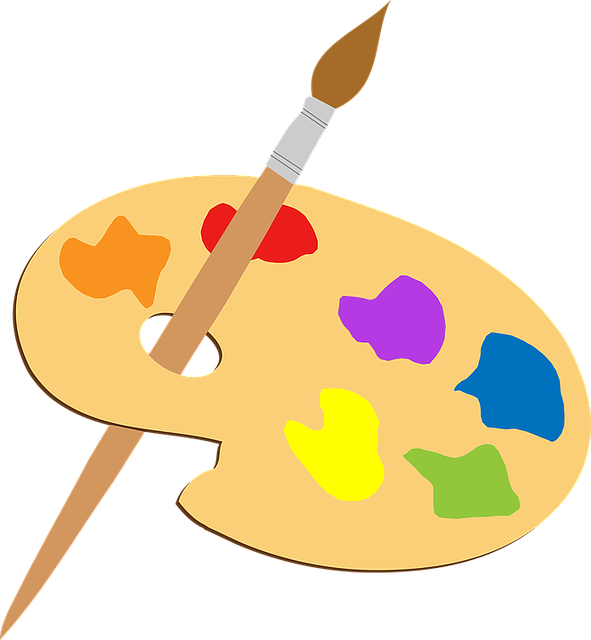 Artist Colorful Paint Brush · Free vector graphic on Pixabay