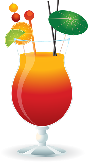 Caribbean cocktail drink free vector graphic on pixabay - Dessin cocktail ...