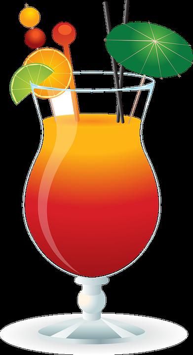 Karibik, Cocktail, Trinken, Glas, Kalk, Tropisch
