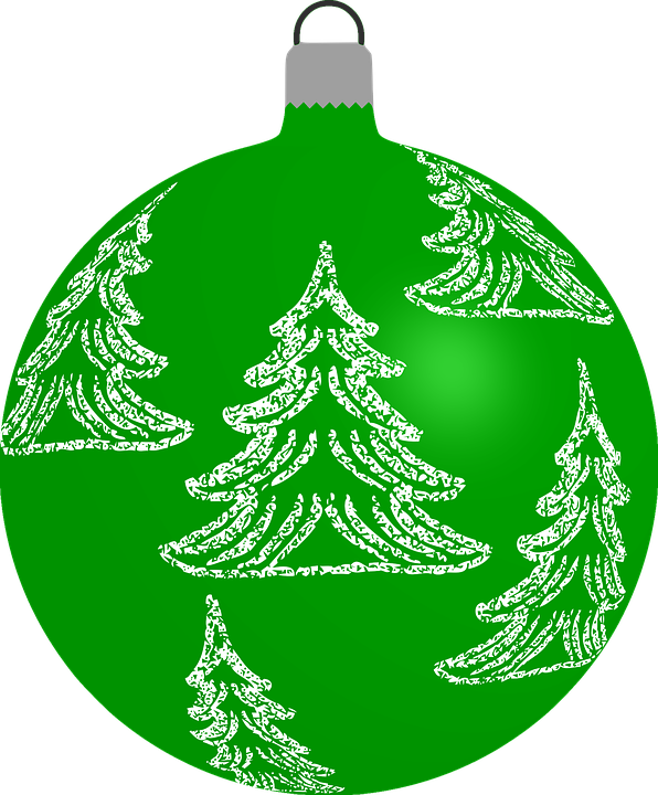 25cm Large Outdoor Commercial Christmas Tree Bauble: Free Vector Graphic: Bauble, Christmas, Decoration