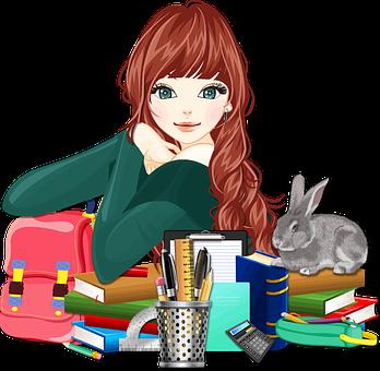 Books, Education, Female, Girl, Learning