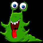 monster, slug, snail