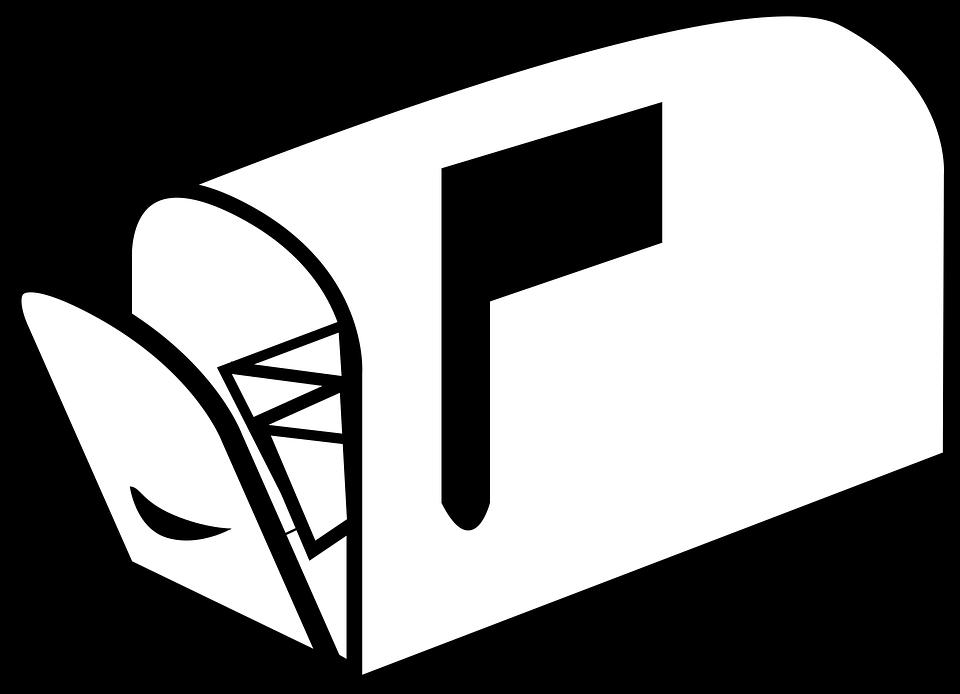 blanco y negro escala de grises casilla de correo