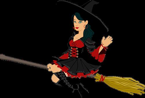 Broomstick, Nainen, Kuvitteelliset, Alla