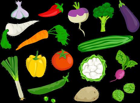 ピーマン, ブロッコリー, 芽キャベツ, ニンジン, チリ, 食べる, ナス