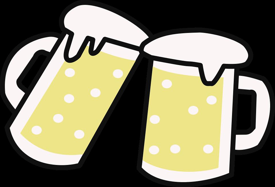 Free Vector Graphic: Beer, Beers, Cups, Drink, Foam