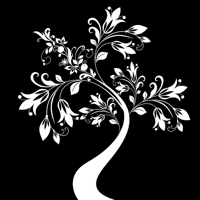 free vector graphic black  decorative  floral  flourish flower garden clipart images flower garden clipart black and white