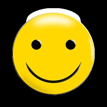 en glad smiley