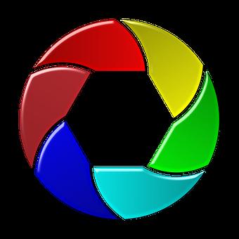 Camera Colorful Diaphragm Film Icon L