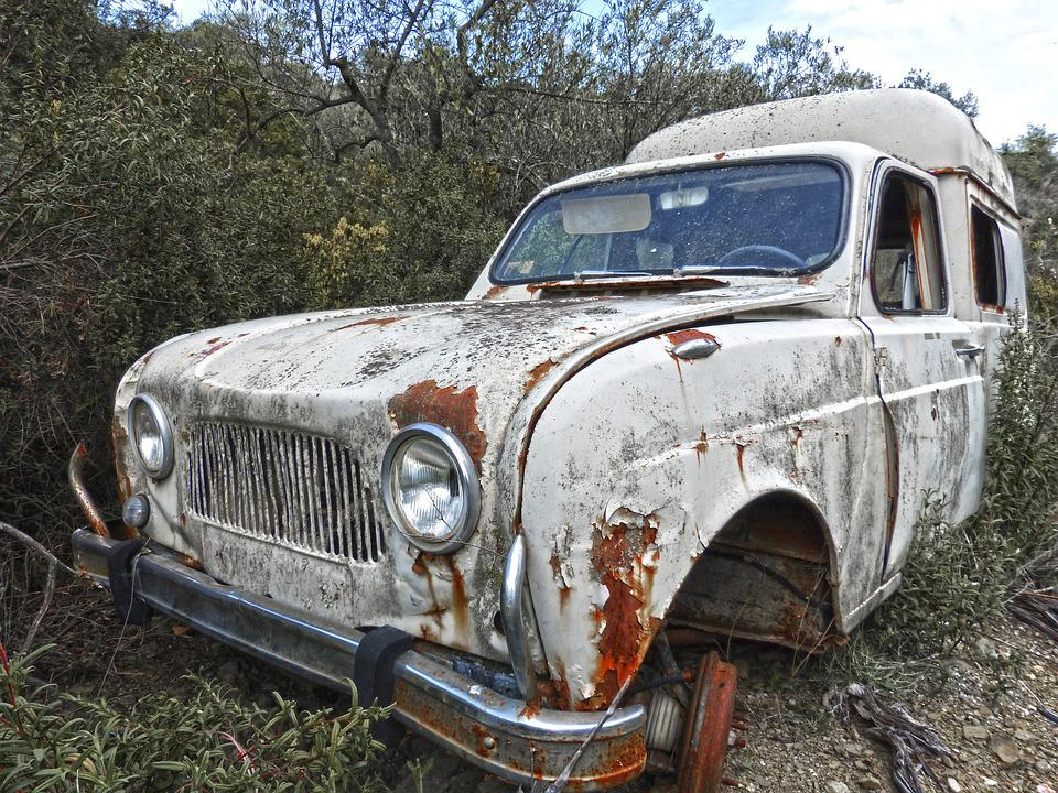 Old Car Abandoned Renault F4 · Free Photo On Pixabay
