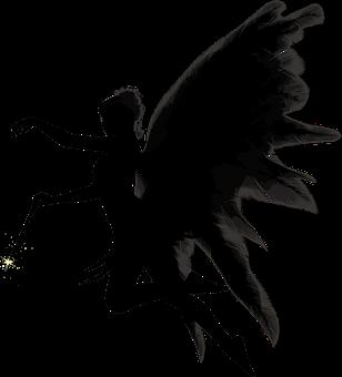 天使, 羽毛, 女性, 魔法の杖, シルエット, 翼, 天使, 天使, 天使