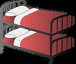 bed, bedroom, bunk bed