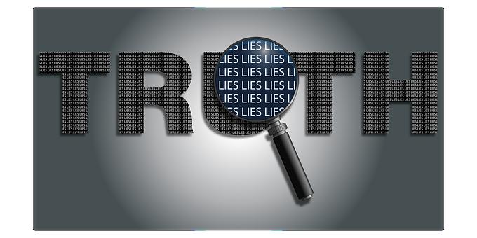 欺く, 詐欺, 嘘, 虫眼鏡, 哲学, 政治, テキスト, 真実, タイプ
