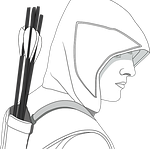 arrows, hooded, male