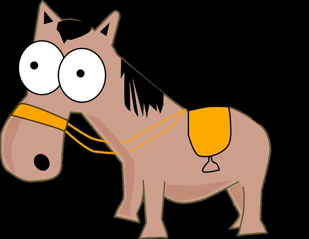 Открытки, картинки смешных лошадей нарисованные