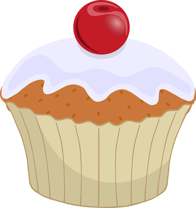 Cherry Cupcake Dessert 183 Free Vector Graphic On Pixabay