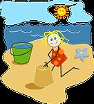 beach, bright, cartoon