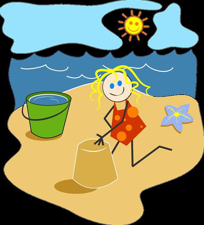 Beach Bright Cartoon Cheery Comic Characters