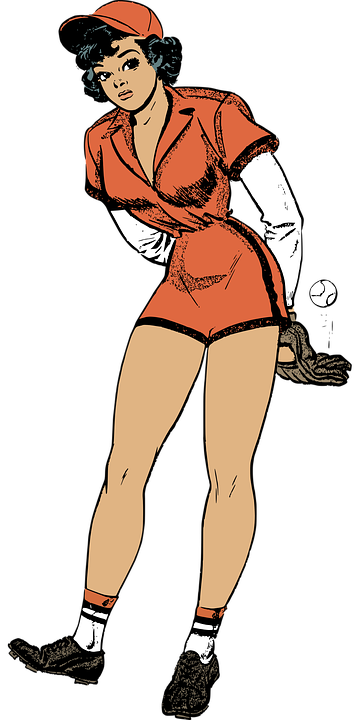 Baseball female pinup free vector graphic on pixabay baseball female pinup retro sport thecheapjerseys Images