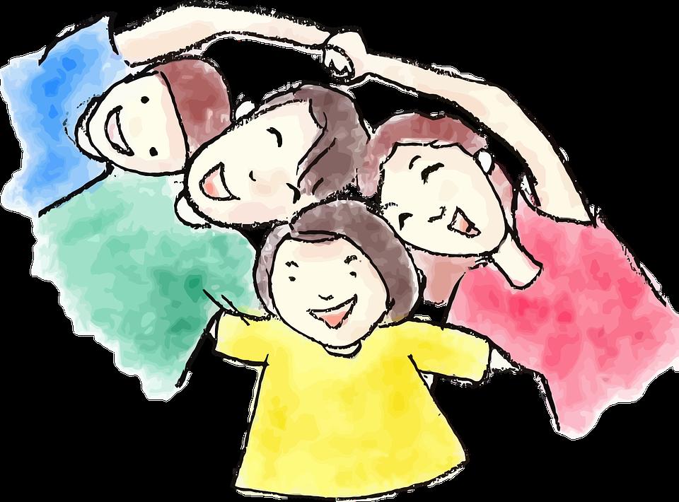 Chłopiec, Dziecko, Komiks Znaków, Tata, Córka, Rysunek