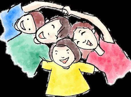 Niño, Personajes De Cómic, Papá, Hija