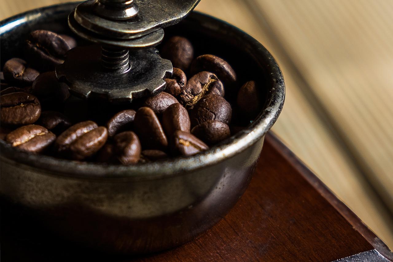 натуральный кофе фото узколинейный, плоский